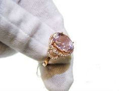 Engagement Ring   3 Carat Morganite Ring With by stevejewelry, $995.00