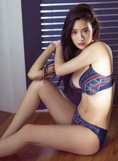 bikini purple Asian girl