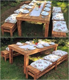 Wooden pallet rustic look always a eye-fetching for the viewer and pumpkin with wooden pallets is also a mind-blowing idea for you. The comfort of benches you can estimate by the presentation pf pillows and the glamour of grocery is rising just because of