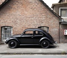 Early all black VW Beetle - Käfer
