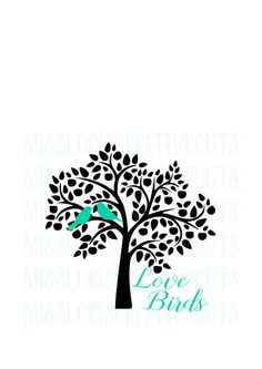 love birds and tree  SVG Cut file  Cricut by MissLoriscreativecut