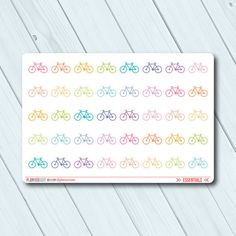 Bicycle Planner Stickers - Icon - Erin Condren Life Planner - Happy Planner - Weight Loss - Biking - Cardio - Exercise - Matte or Glossy