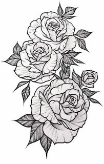 White Background Tattoo For Man And Woman Rose Tattoo Sleeve Floral Tattoo Sleeve Rose Drawing Tattoo