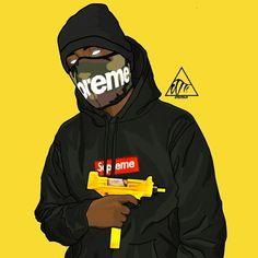 dope art vector art supreme เ Arte Do Hip Hop, Hip Hop Art, Arte Dope, Dope Art, Dope Kunst, 123 And Me, Supreme Art, Trill Art, Dope Cartoons