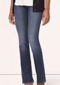 ANN TAYLOR MEDIUM WASH BOOT LEG JEAN - SIZE 10 PETITE #AnnTaylor #BootCut