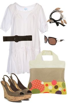 Cute beach outfit with flats