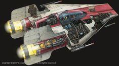 Star Wars Cutaway: RZ-1 A-wing Interceptor