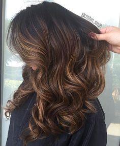 Caramel Mocha Balayage for Black Hair