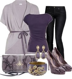 """""""Purple Snakeskin"""" by irene-dunne ❤ liked on Polyvore"""