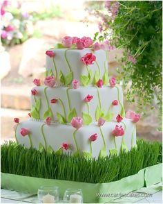 Image detail for -Spring Wedding Cake   Weddings   SuperWeddings.com