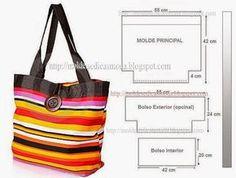 molde de bolsa saco - Buscar con Google