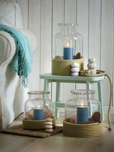 Vintage girlande maritim selber machen wanddeko maritim blau wei DIY Deko Ideen f r Zuhause Pinterest Lifestyle