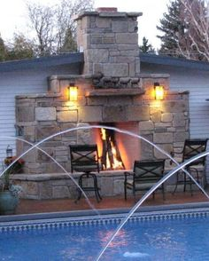 Another outdoor fireplace I will fantasize about building when I have time and some small amount of talent