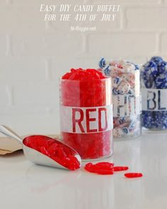 easy DIY candy buffet for the 4th | NoBiggie.net