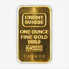 Capital Gold Group presents the Credit Suisse Bar