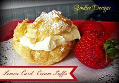 Lemon Curd Cream Puffs www.spindlesdesigns.com #desserts #lemon #creampuffs