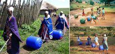 O projeto existe desde 1994 e já se expandiu e provocou impacto social em outros 20 países. Muito mais fácil de carregar, o Hippo Water Roller consegue armazenar 90 litros de água: volume praticamente impossível de ser transportado em um balde na cabeça.