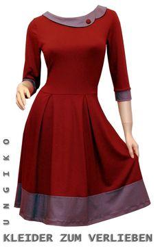 Knee Length Dresses - Kelly Dress - Many Colors - a unique product by ungiko b . Ladies Day Dresses, Elegant Dresses For Women, Modest Dresses, Casual Dresses, Blouse Neck Designs, Pakistani Dress Design, Knee Length Dresses, Lolita Dress, Women's Fashion Dresses
