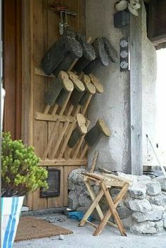 Good idea for a mudroom or outside the back door...