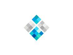 I geometric abstract iceberg logo design symbol by alex tass