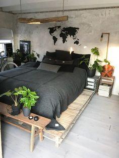 Master Bedroom Decorating Ideas Modern Bedroom Sets Home Bedroom Sets, Dream Bedroom, Home Decor Bedroom, Master Bedroom, Diy Bedroom, Bedroom Furniture, Gypsy Bedroom, Furniture Design, Bedroom 2018