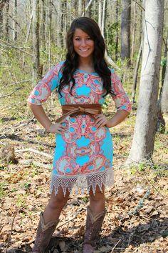 Antebellum Lace Dress- $59.99!