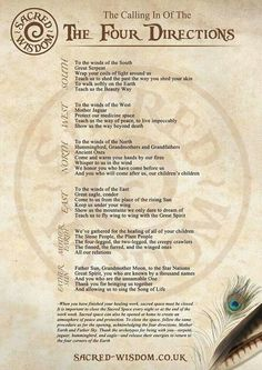 This is the Native American calling of the Four Directions, which is a ritual involving praying to the four directions, or to the spirits of the world, to life and the Great Spirit. The Medicine Wheel is a symbol that represents the four directions. Wicca Witchcraft, Magick, Wicca Runes, Green Witchcraft, Four Directions, Cardinal Directions, Under Your Spell, The Calling, Magic Spells