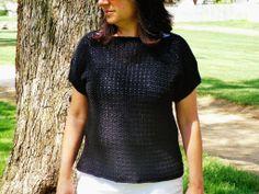 Crochet Oversized Top/Sweater Pattern, any yarn/thread, customizable!