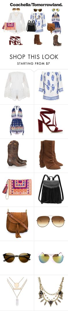 """Requested sets."" by claudiadessi on Polyvore featuring White Leaf, Gianvito Rossi, Ariat, Giuseppe Zanotti, Chloé, Dita, Jules Smith, coachella and Tomorrowland"