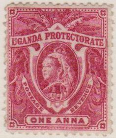 One Anna Uganda protectorate 1890s
