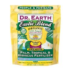 Buy DR Earth 219794 1 lbs Exotic Blend Palm, Tropical Hibiscus Fertilizer at UnbeatableSale Organic Fertilizer, Hibiscus Leaves, Hibiscus Plant, Yellow Hibiscus, Humic Acid, Organic Nutrients, Natural Garden, Pet Safe