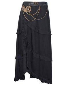 The Violet Vixen - Altered Gravity Gearworks Steampunk Black Skirt, $135.00 (http://thevioletvixen.com/clothing/altered-gravity-gearworks-steampunk-black-skirt/)