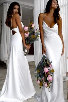 Sexy Slim White Wedding Dresses with Cowl Back, Shop plus-sized prom dresses for curvy figures and plus-size party dresses. Ball gowns for prom in plus sizes and short plus-sized prom dresses for Wedding Dresses With Straps, Cute Prom Dresses, White Wedding Dresses, Sexy Dresses, Bridal Dresses, Wedding Gowns, Red Wedding, Ball Dresses, Bridesmaid Dresses