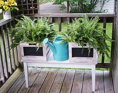 Make these cute chalkboard panel wooden crates for storage or planters… :: Hometalk