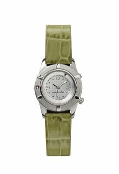 Con Leche — Natalia with Lime Alligator Grain Strap | Your #1 Source for Watches and Accessories