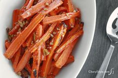 A recipe for roasted carrots that brings out the vegetable's slightly sweet, delightfully nutty taste. It's an easy and tasty way to serve carrots!