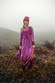 Don't like the hat but love the dress and corduroy waistcoat from Gudrun Sjoden's collection