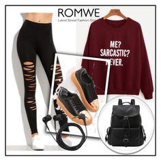 """Romwe 8"" by ermina-camdzic ❤ liked on Polyvore featuring Sennheiser, men's fashion, menswear and romwe"