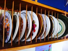 My groovy collection of retro dinnerware. I love that nothing is matching! Each piece is a work of art-great talking point at dinner with friends-someone always finds a plate that reminds them of 'back when...'