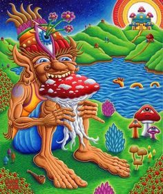 Recently, psychedelic master Alex Grey sat down with Postivie Creations artist, Chris Dyer. Chris Dyer is a visionary artist on fire with ecstat. Hippie Wallpaper, Trippy Wallpaper, Trippy Drawings, Art Drawings, Psychedelic Art, Trippy Pictures, Trippy Mushrooms, Acid Art, Trippy Painting