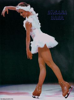 The Swan - 1993 Ladies World Figure Skating Champion and 1994 Ladies Figure Skating Olympic Champion, Oksana Baiul (Ukraine).