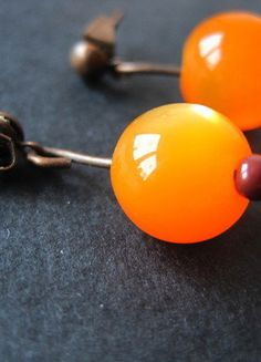 Kaufe meinen Artikel bei #Kleiderkreisel http://www.kleiderkreisel.de/accessoires/ohrringe/142003944-schone-selbstgemachte-ohrringe-in-orange