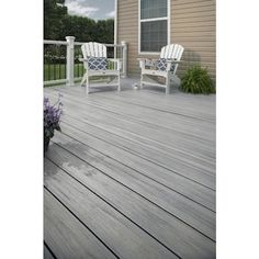 Trex Enhance Naturals 16-ft Foggy Wharf Grooved Composite Deck Board in the Composite Deck Boards department at Lowes.com