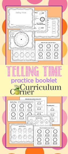 Telling Time Practice Booklet FREE from The Curriculum Corner
