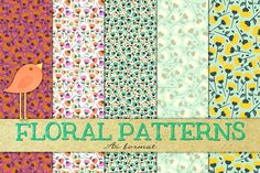 ✿ Floral ✿ Patterns ✿ seamless ✿ by Anny Cecilia Walter on @creativemarket