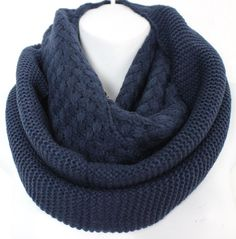 Womens Knitted Scarf, Oversized scarf, Winter Scarf, Boho Scarf, Fall Scarf, Chunky Knit scarf, Infinity scarf, Poncho, Blanket scarf, Navy by myfashioncreations on Etsy https://www.etsy.com/listing/198367491/womens-knitted-scarf-oversized-scarf