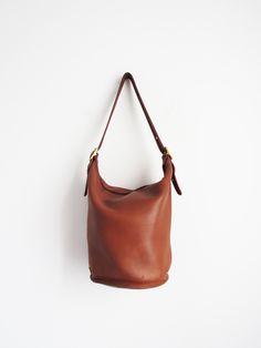 Coach Bucket Bag    1980 s Leather Bag Coach Bucket Bag 20afd1e842e5d