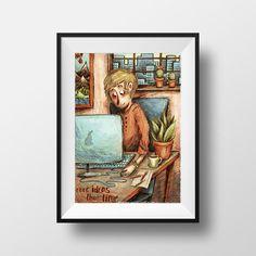 LTD Edition A3 Print | Crowd Art Shop | Maia Fjord | Illustration | Poster | Sketch | Digital | Art