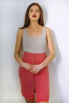 Spring Summer collection Diario de una Couturier #diariodeunacouturier #springsummer2015 #fashion  http://diariodeunacouturier.bigcartel.com/product/le-re-skirt-pink