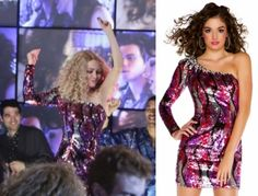 """The Carrie Diaries: Carrie Bradshaw's (AnnaSophia Robb)  Edge by Mac Duggal Style 81704BT Sequin, One-Shoulder Dress from """"Hush Hush"""" episode. #thecarriediaries #getthelook"""